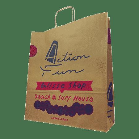 sac papier kraft personnalisé pour boutique