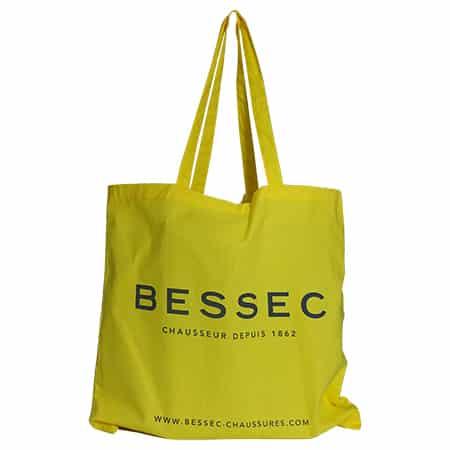 Tote bag jaune personnalisé avec logo