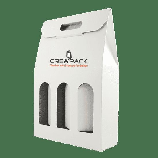 Boîte en carton porte bouteilles personnalisé