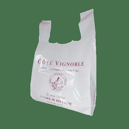 sac bretelles en plastique caviste