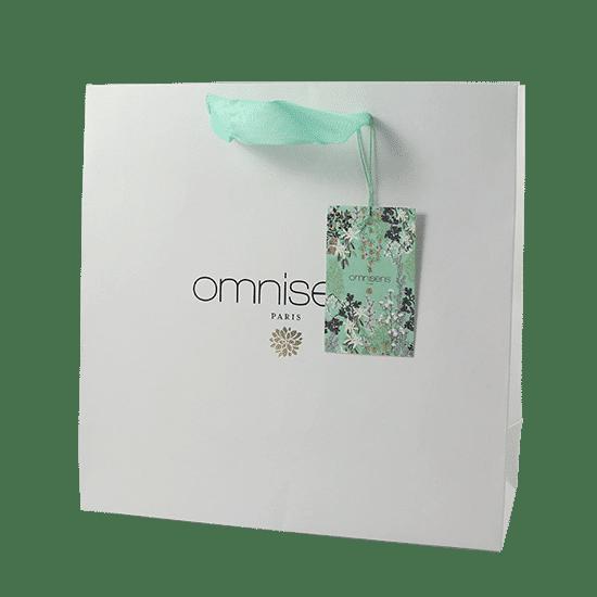 Sac papier luxe haut e gamme ruban personnalisé