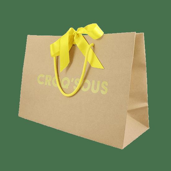 sac luxe avec ruban satin personnalisé