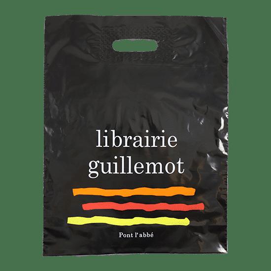Sac plastique publicitaire personnalisé librairie