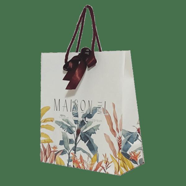 Sac papier luxe ruban personnalisé pour boutique