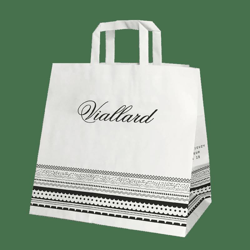 sac papier publicitaire personnalisé pour traiteur