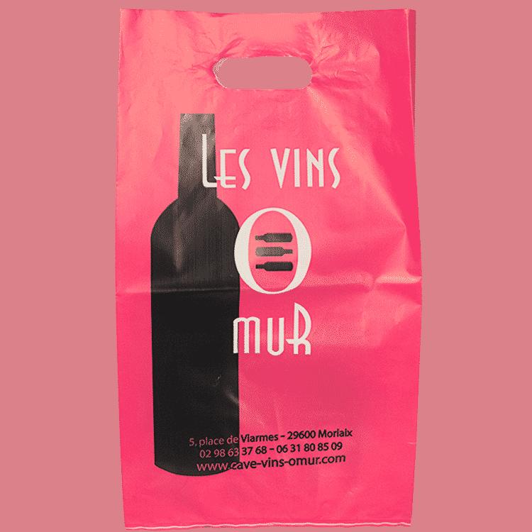Sac plastique recyclable pour cave à vin