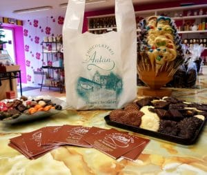 sac plastique bretelles chocolatier
