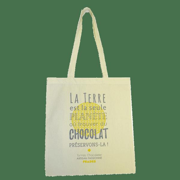 Tote bag publicitaire personnalisé chocolaterie