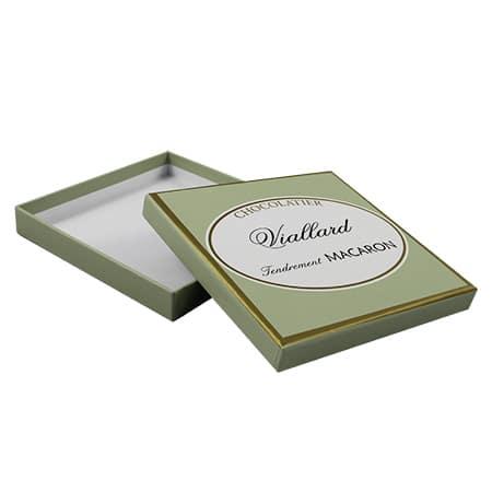 Emballage chocolatier publicitaire personnalisé