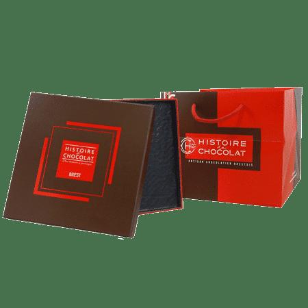 Assortiment de boîtes chocolatier publicitaire personnalisé