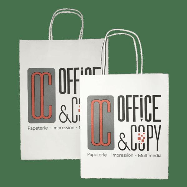 sac papier personnalisable avec logo boutique