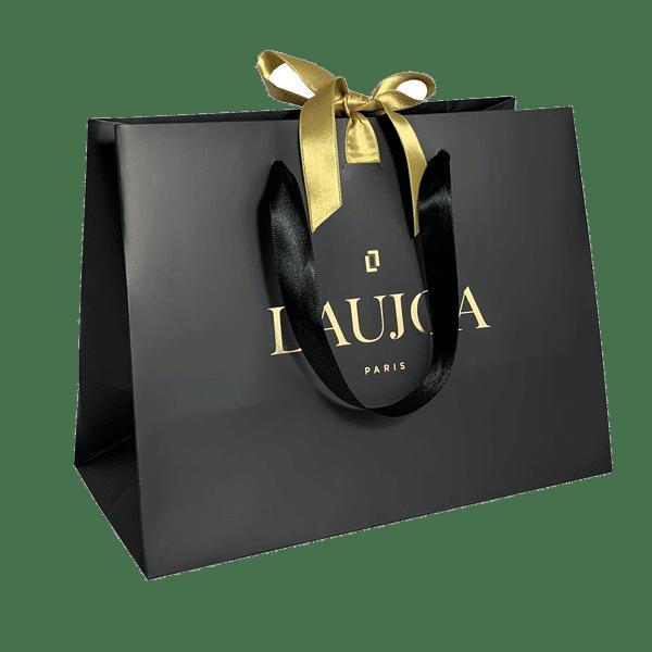 Sac luxe avec ruban à personnalisé pour boutique de bijoux