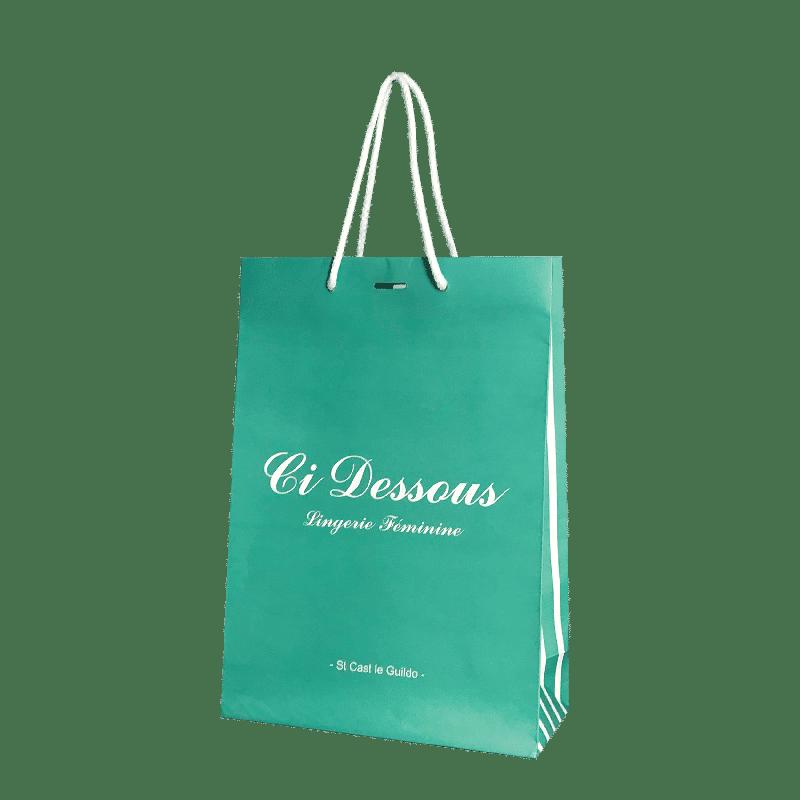 Sac papier luxe personnalisé boutique de lingerie