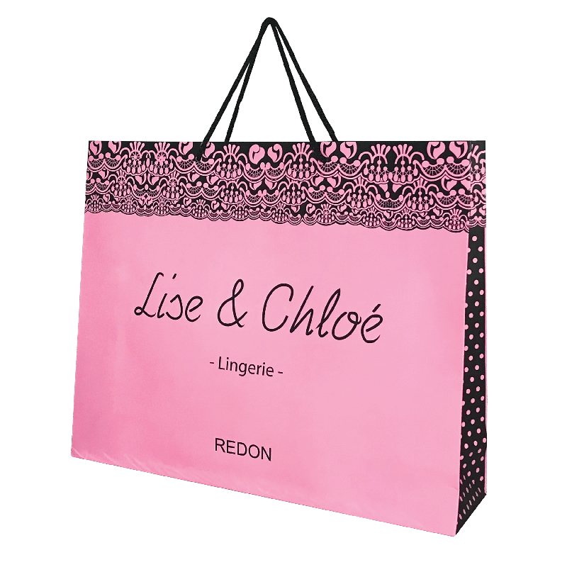 Sac en papier luxe personnalisable logo boutique