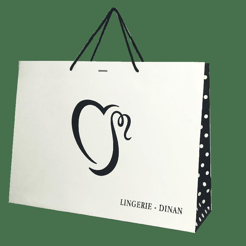 Sac papier luxe publicitaire personnalisé pour professionnel e la lingerie