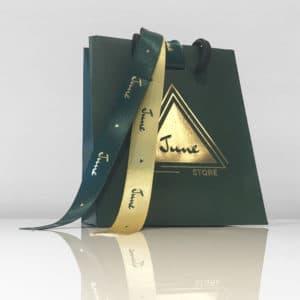 sac avec ruban personnalisé