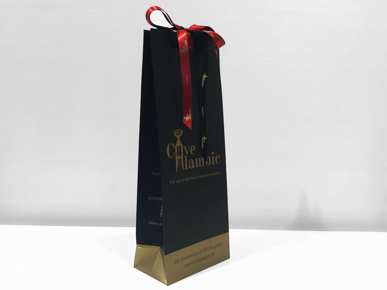 sac cadeau avec rubans personnalisé