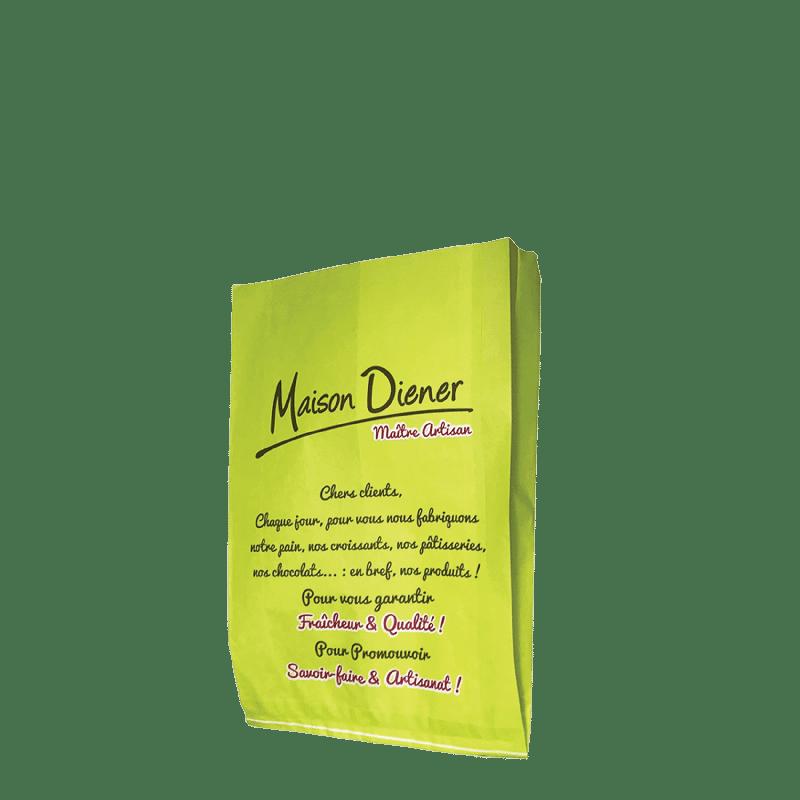 Sachet papier publicitaire personnalisé boulangerie
