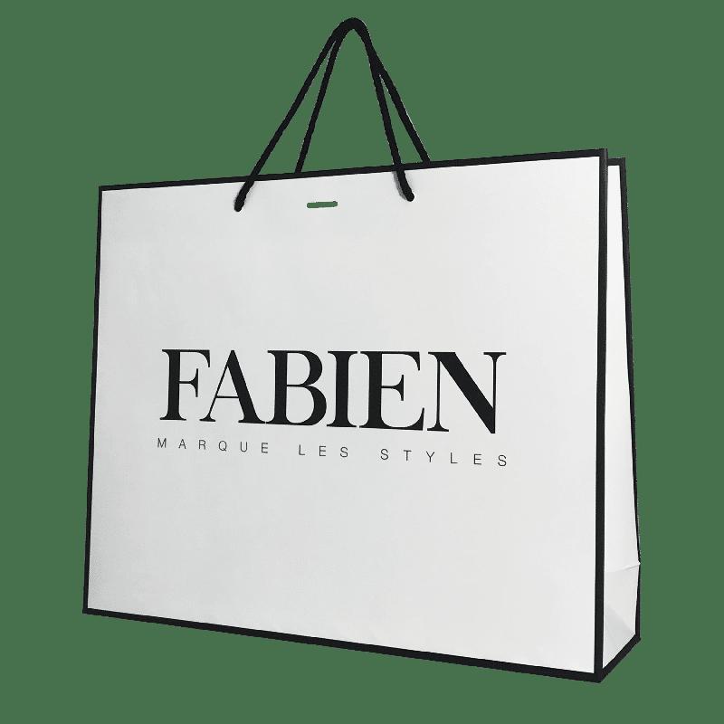 Sac luxe boutique de vêtement en papier personnalisé