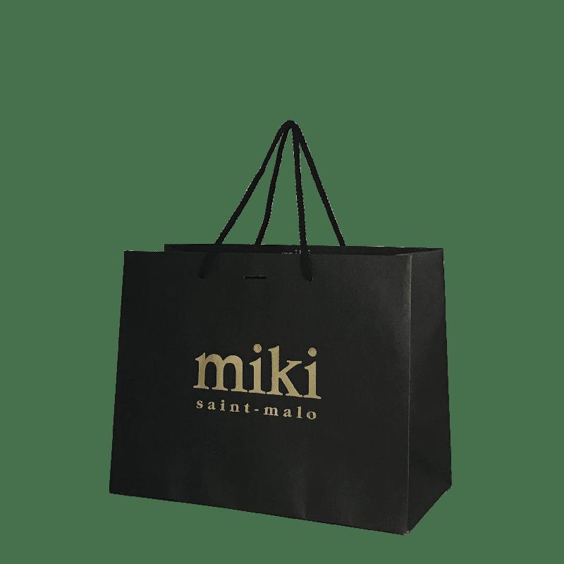 Personnalisation de sac luxe avec impression dorrée