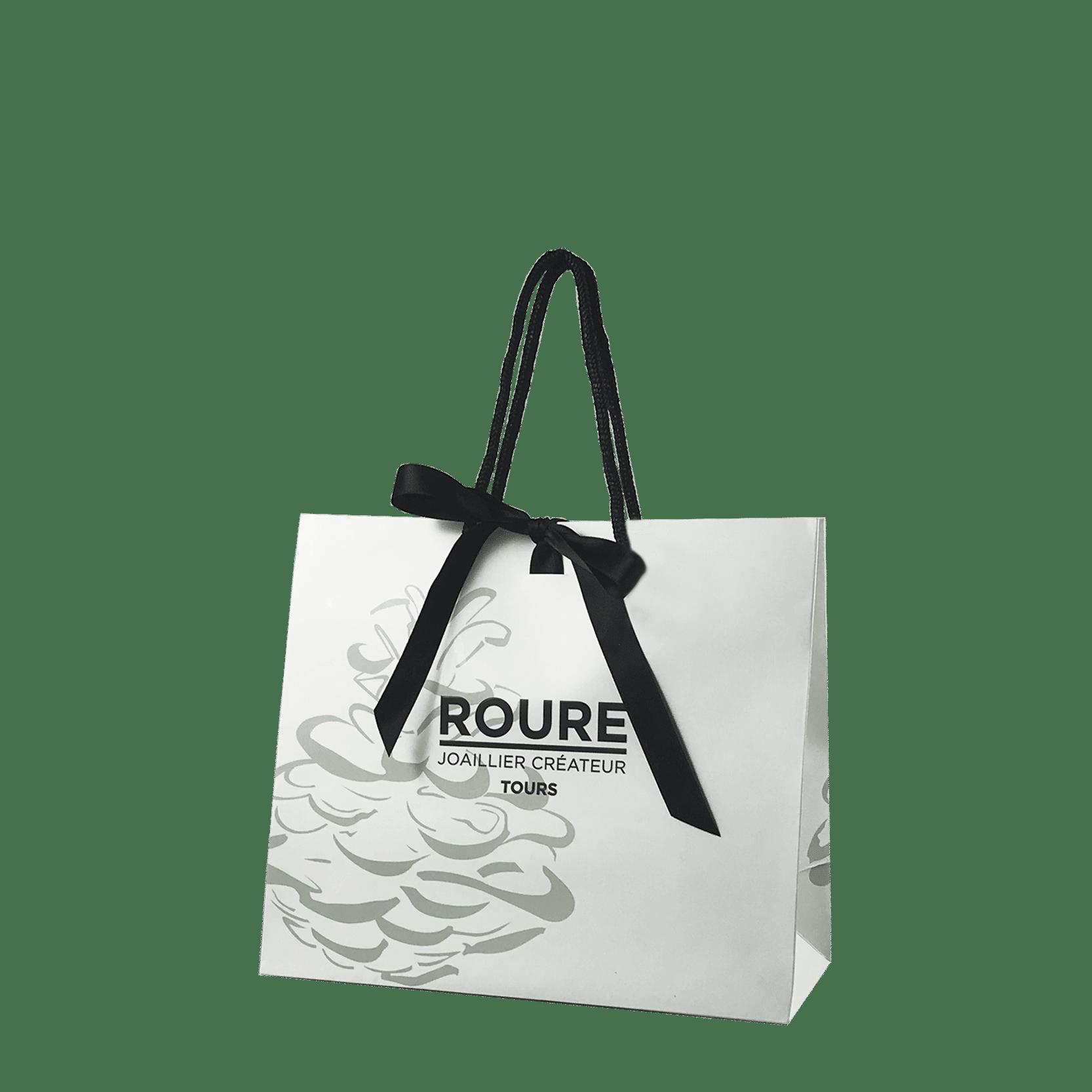 sac personnalisé avec ruban pour bijouterie