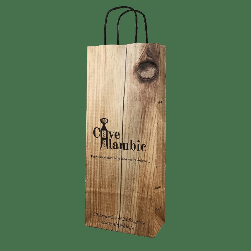 Impression sac bouteille personnalisé papier