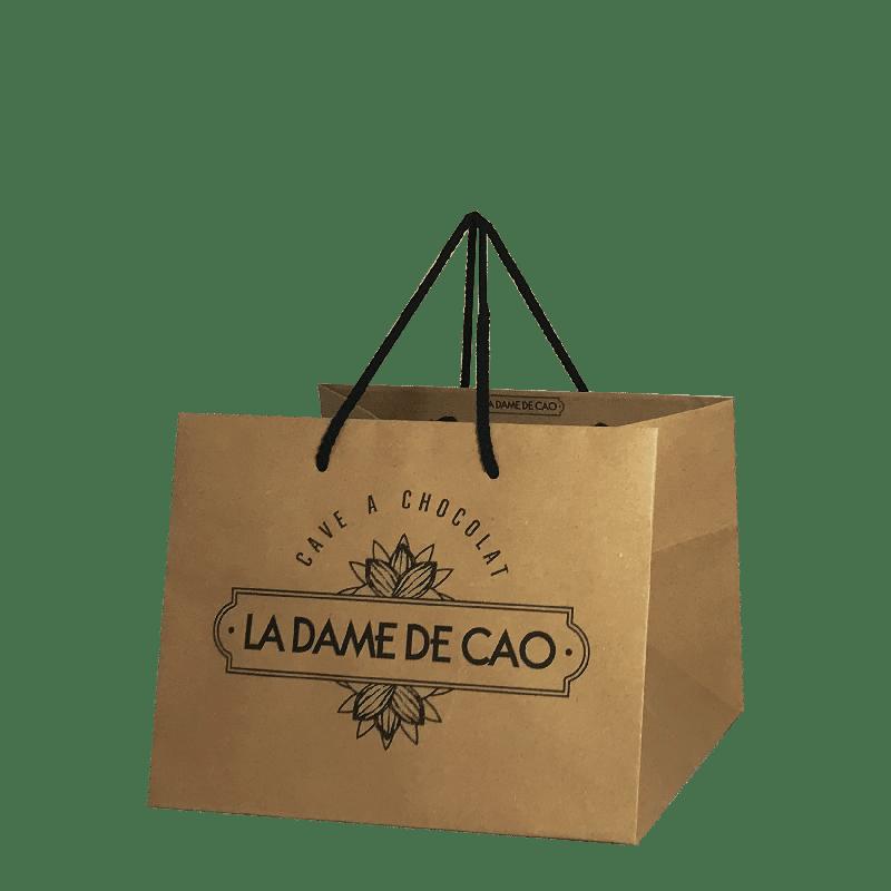 sac kraft poignées coton personnalisé