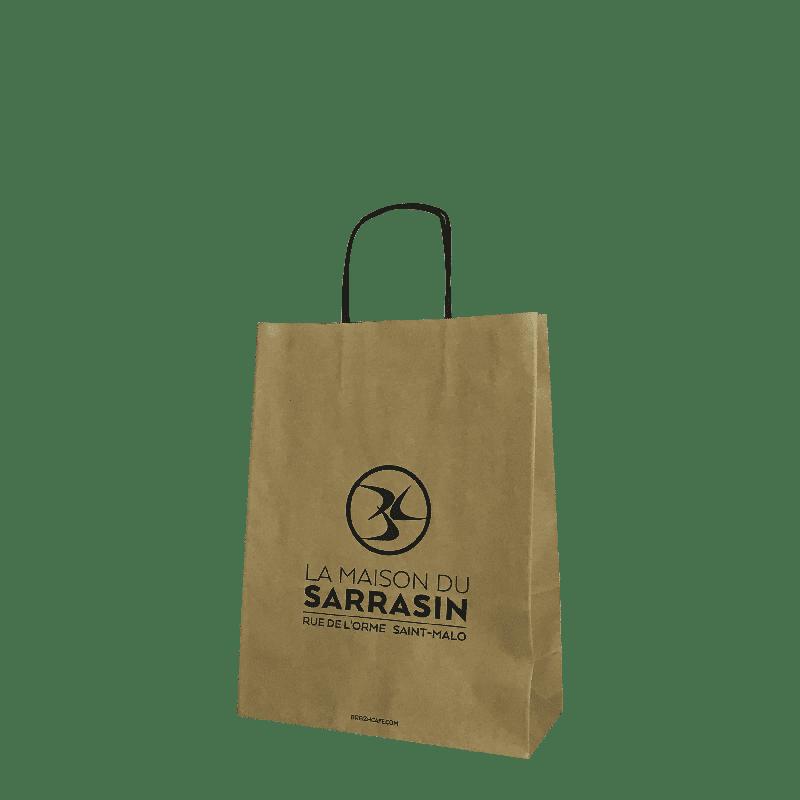 sac papier kraft publicitaire poignées torsadées