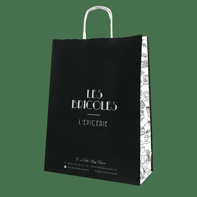 sac papier personnalisé épicerie