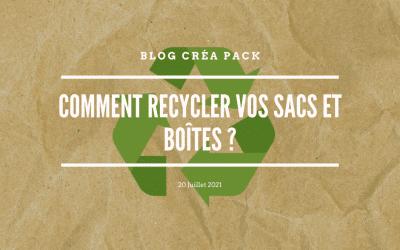 Comment recycler vos sacs et boites ?