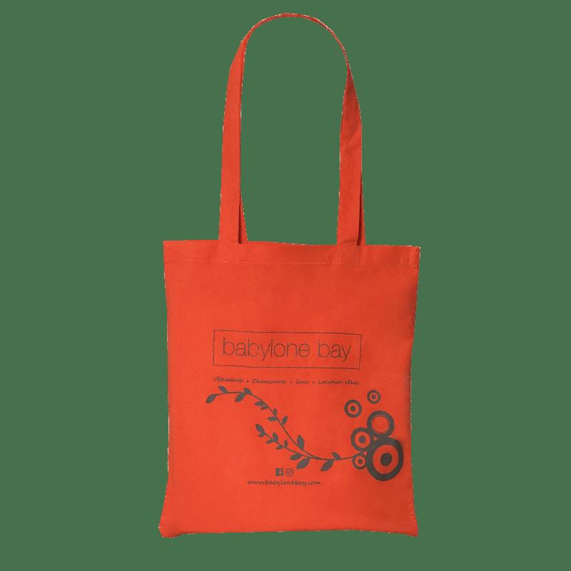 Sac coton orange personnalisé pour professionnel
